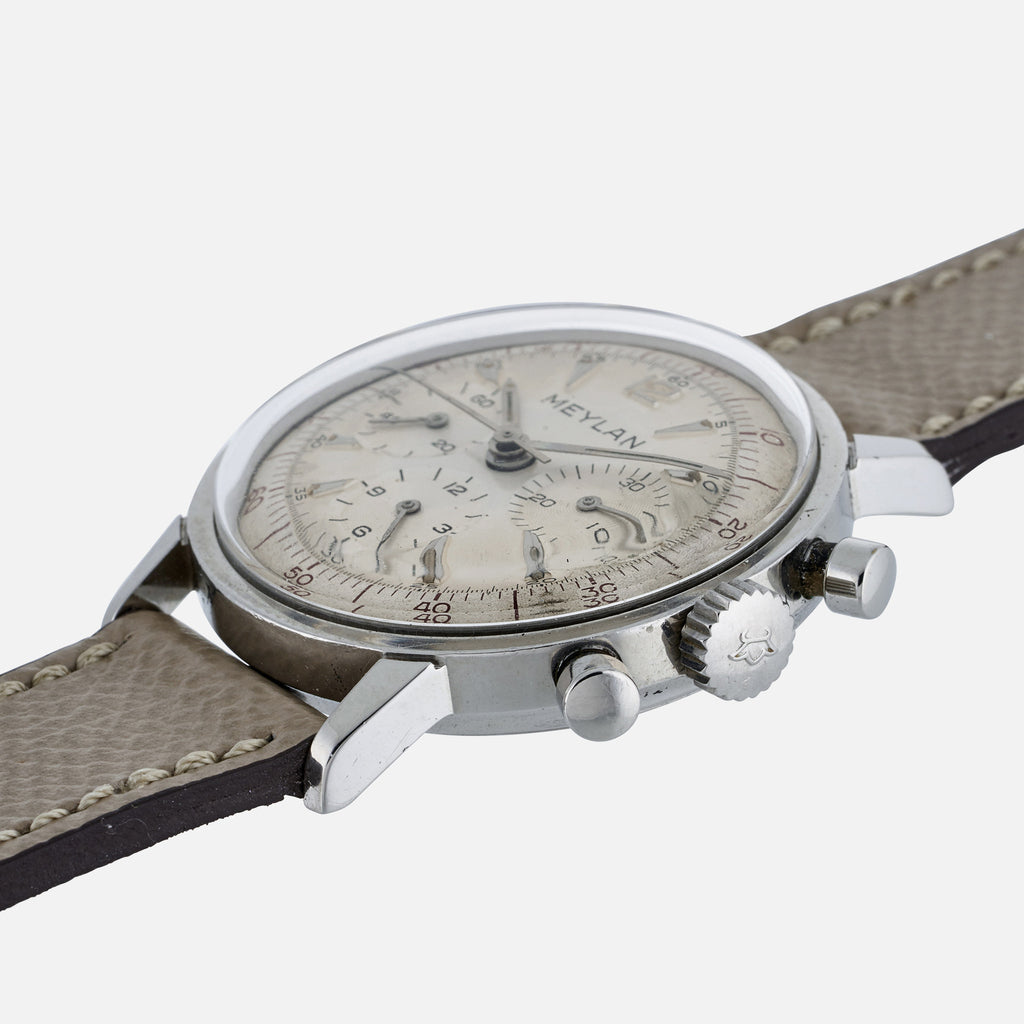 1960s Meylan Chronograph In Stainless Steel