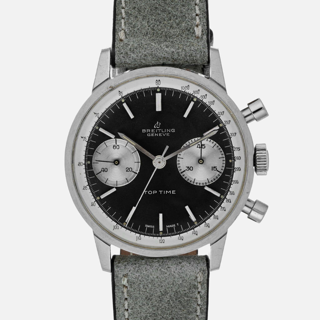 1960s Breitling Top Time Reference 2002 With Reverse Panda Dial