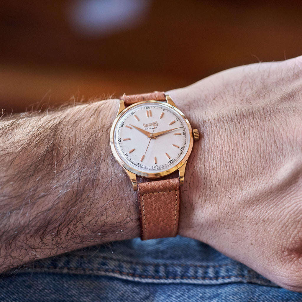 Oversized 1950s Pink Gold Eberhard & Co.