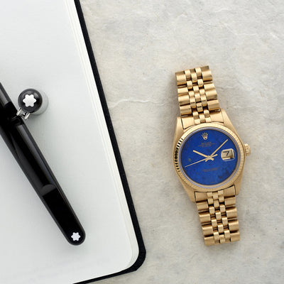 1979 Rolex Datejust Reference 16018 In Yellow Gold With Lapis Lazuli Dial alternate image.