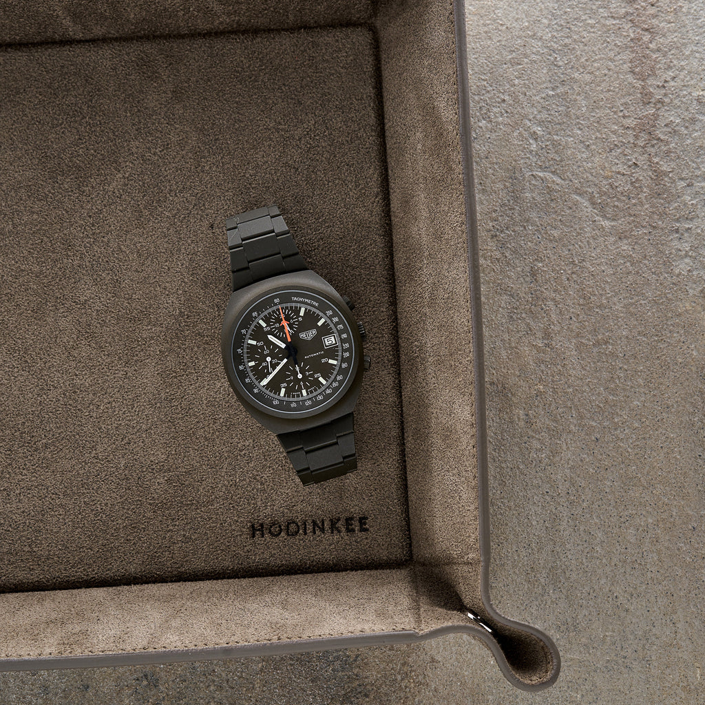 1980s Heuer Chronograph Reference 510.502 In Olive Green PVD-Coated Steel
