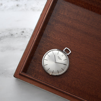 1960s Universal Genève Ultra-Slim Pocket Watch In Steel alternate image.