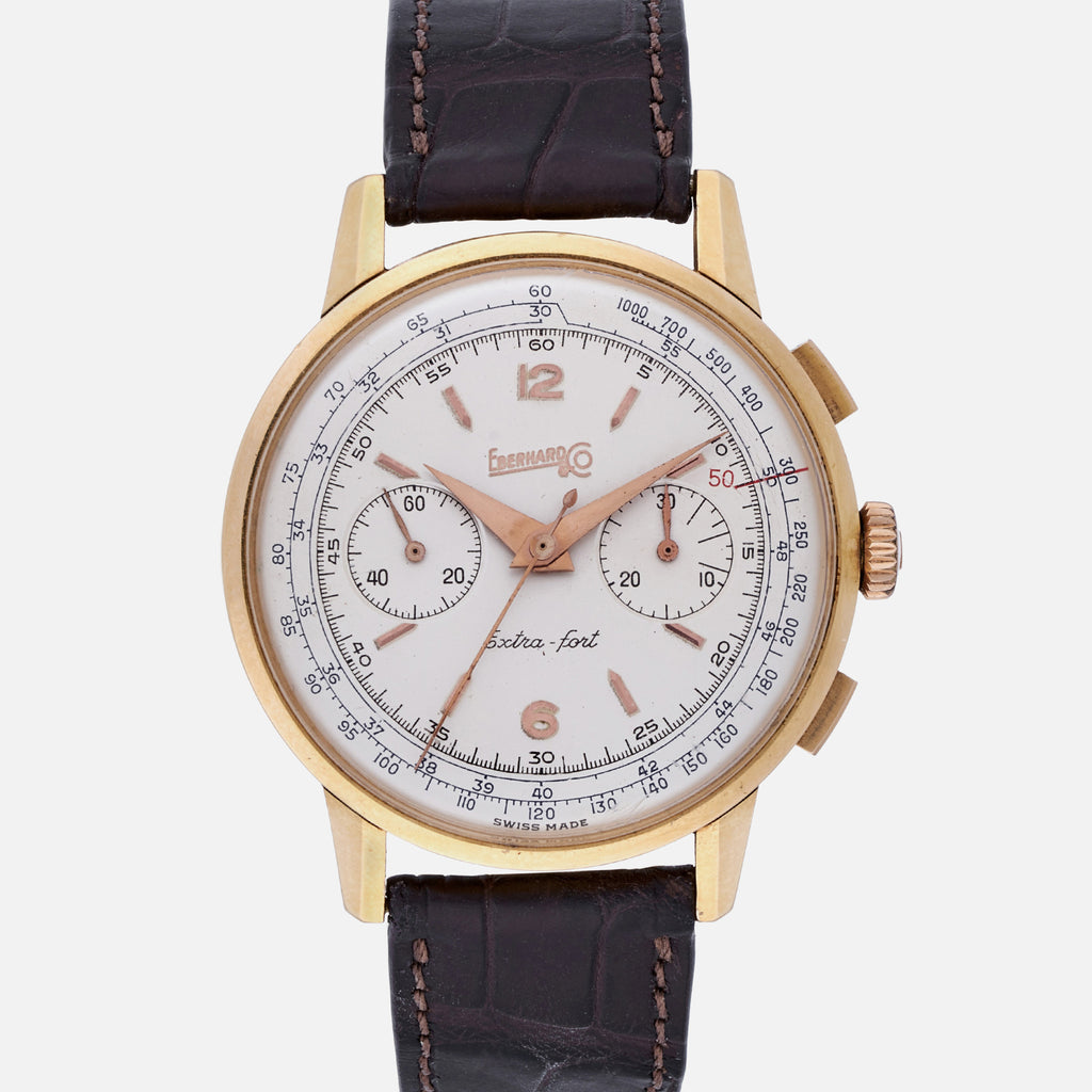 1950s Eberhard & Co. Extra-Fort Chronograph In Rose Gold