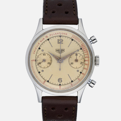 1950s Heuer Chronograph With Pulsation Dial