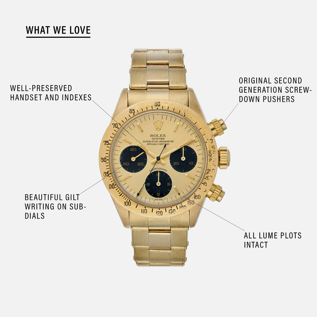 1978 Rolex Cosmograph Daytona Reference 6265 In 14k Yellow Gold