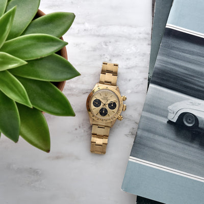 1978 Rolex Cosmograph Daytona Reference 6265 In 14k Yellow Gold alternate image.