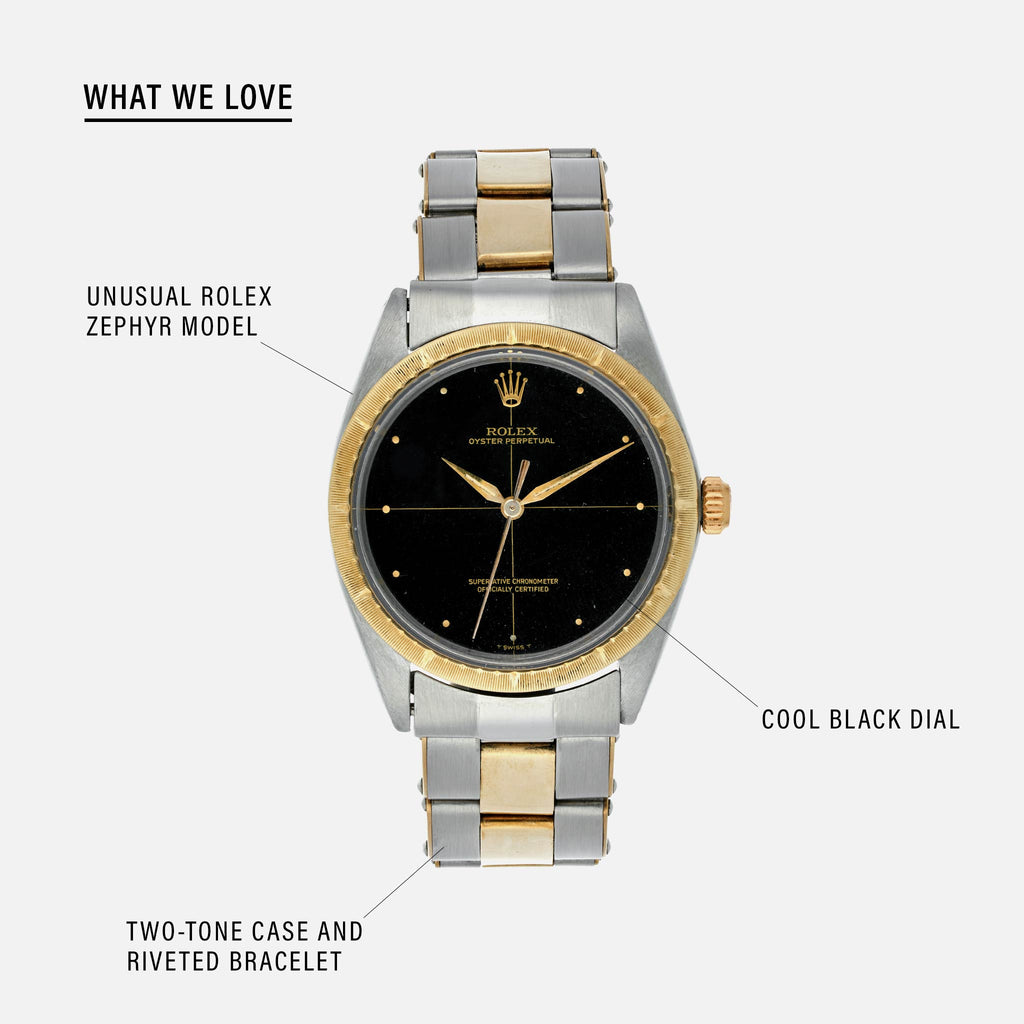 1967 Two,Tone Rolex Zephyr Reference 1008