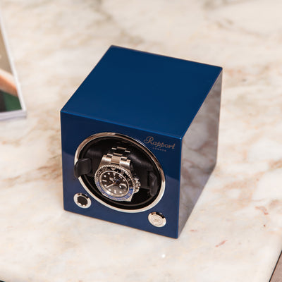 Evo Watch Winder In Admiral Blue alternate image.