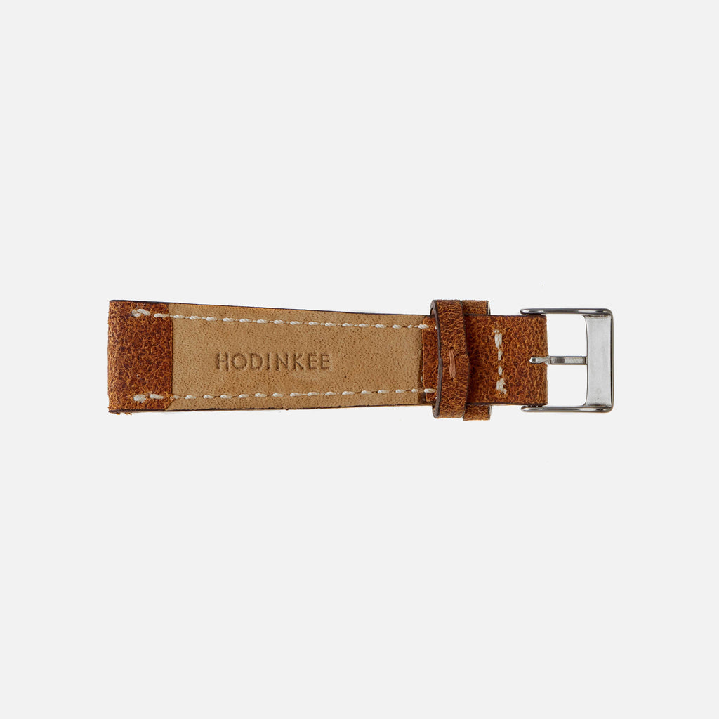 Aged Brown Leather Watch Strap