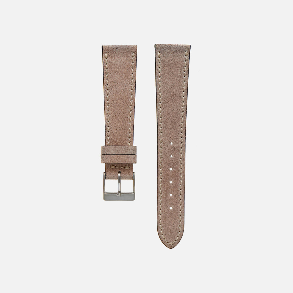 Aged Grey Leather Watch Strap