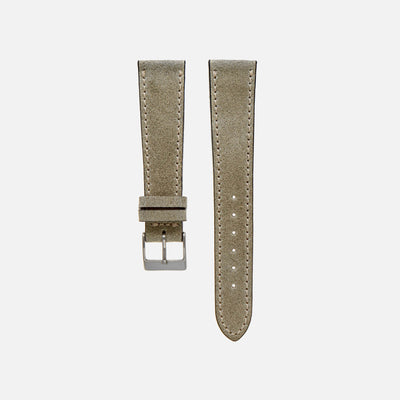 Aged Moss Green Leather Watch Strap