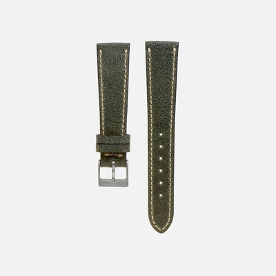 Gabarro Co. Aged Hunter Green Leather Watch Strap