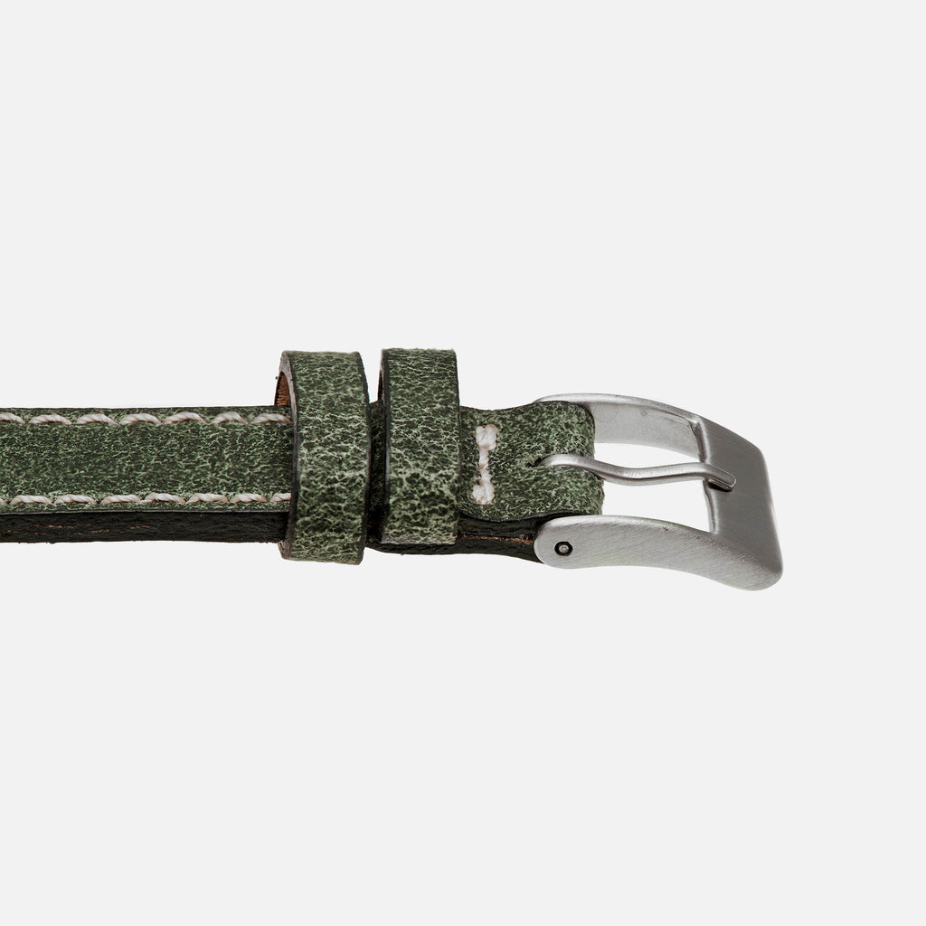 Aged Hunter Green Leather Watch Strap