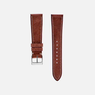 The Davenport Watch Strap In Red Clay