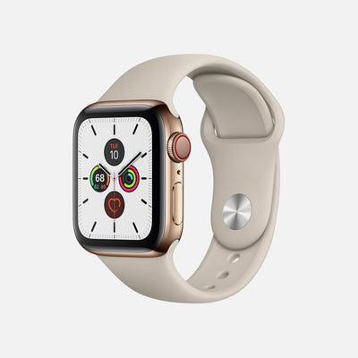 Apple Watch Series 5 GPS + Cellular Gold Stainless Steel Case 40mm With Stone Sport Band alternate image.