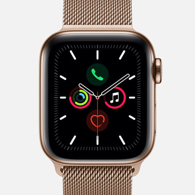Apple Watch Series 5 GPS + Cellular Gold Stainless Steel Case 44mm With Gold Milanese Loop