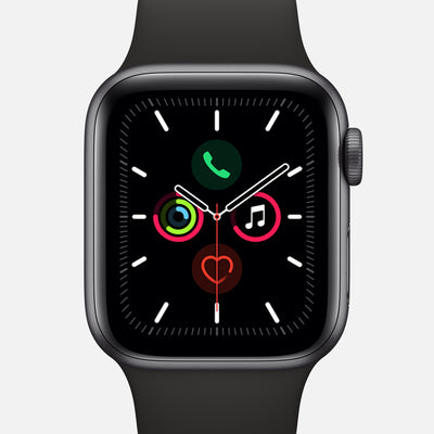 Apple Watch Series 5 GPS + Cellular Space Gray Aluminum Case 40mm With Black Sport Band