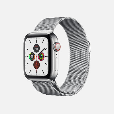 Apple Watch Series 5 GPS + Cellular Stainless Steel Case 40mm With Stainless Steel Milanese Loop alternate image.