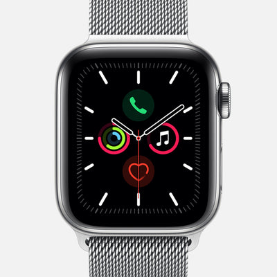 Apple Watch Series 5 GPS + Cellular Stainless Steel Case 40mm With Stainless Steel Milanese Loop