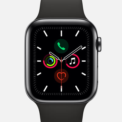 Apple Watch Series 5 GPS + Cellular Space Black Stainless Steel Case 40mm With Black Sport Band