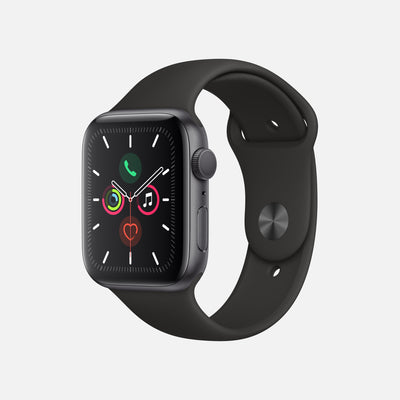 Apple Watch Series 5 GPS + Cellular Space Gray Aluminum Case 44mm With Black Sport Band alternate image.