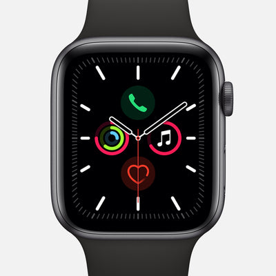 Apple Watch Series 5 GPS + Cellular Space Gray Aluminum Case 44mm With Black Sport Band