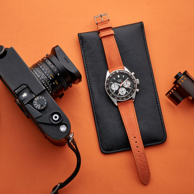 The Sedona Watch Strap In Orange alternate image.