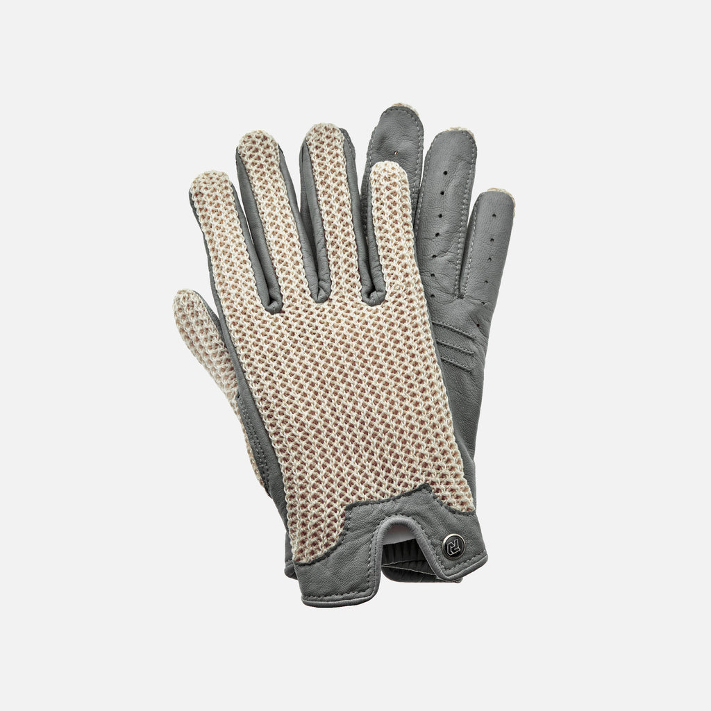 Autodromo for HODINKEE Limited Edition Stringback Driving Gloves In Grey