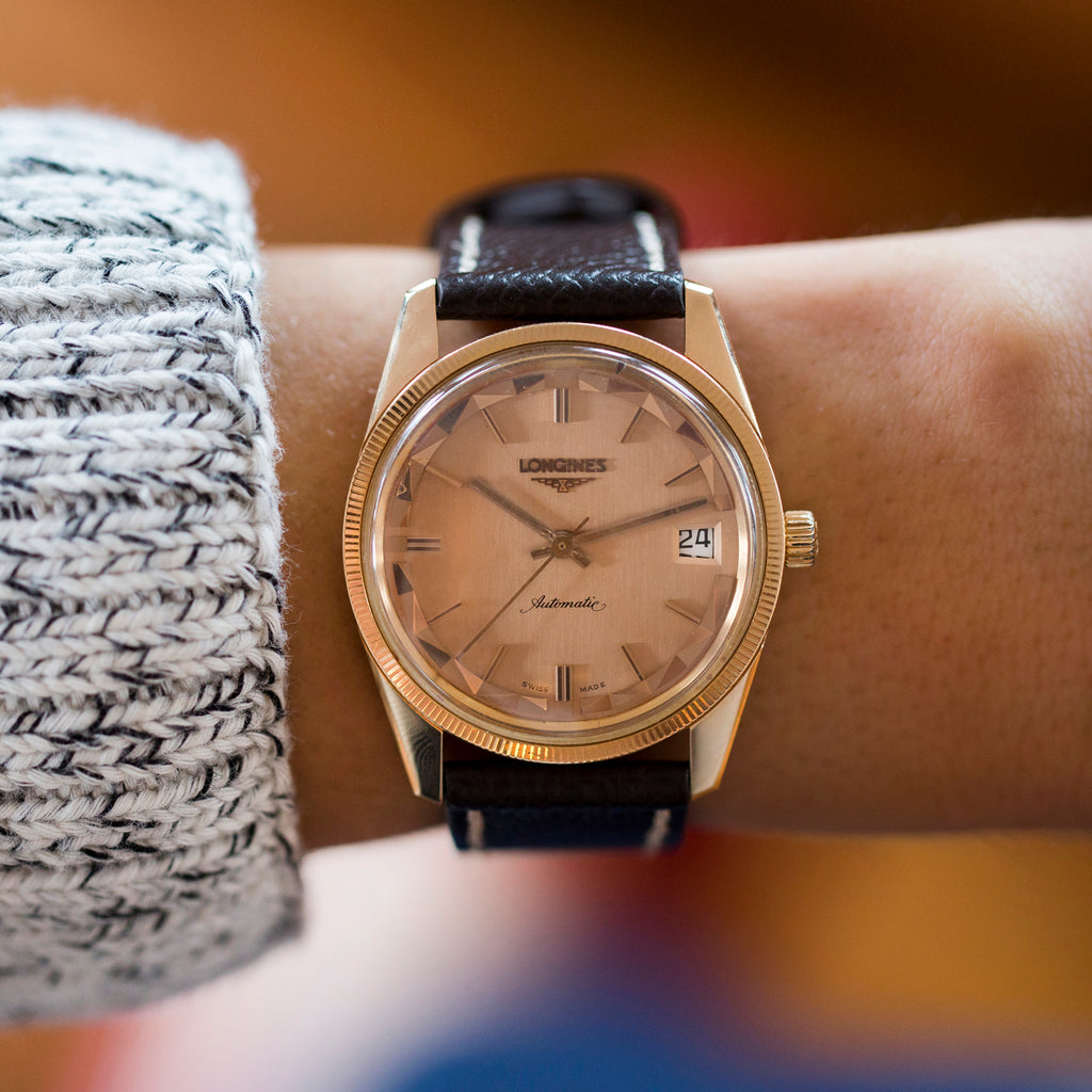 1970s Longines Conquest In Rose Gold