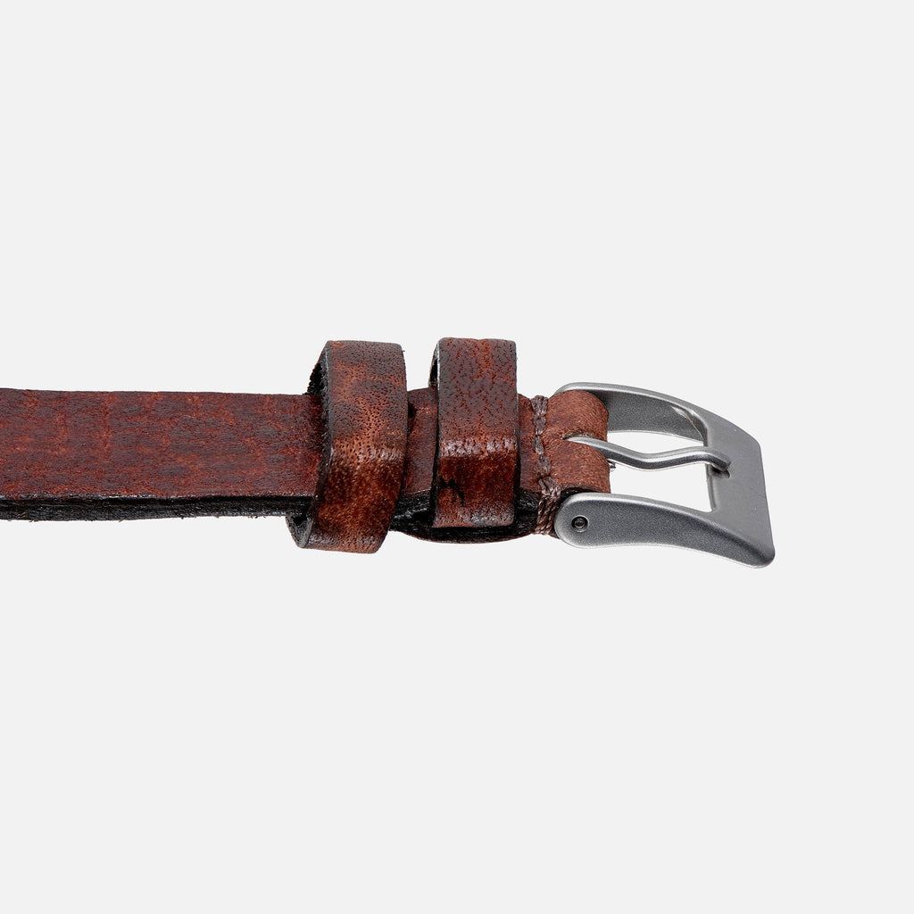 Burnt Brown Calfskin Watch Strap