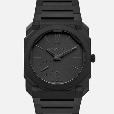 BVLGARI Octo Finissimo Automatic In Black Ceramic With Bracelet