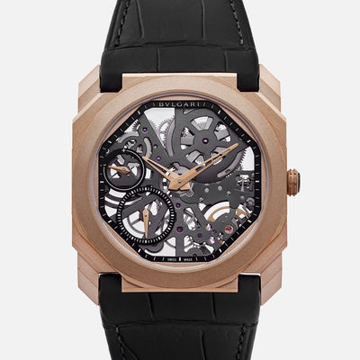 BVLGARI Octo Finissimo Skeleton In Rose Gold With Strap
