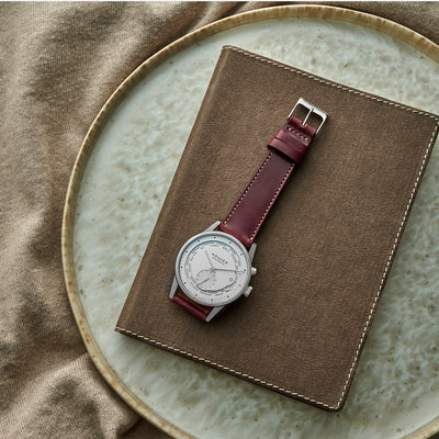 The Barrett Watch Strap In Burgundy alternate image.