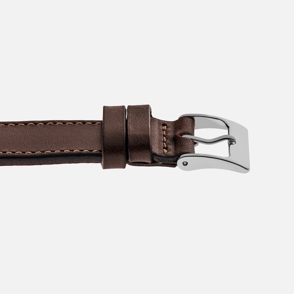 The Barrett Watch Strap In Dark Brown