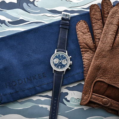 The Barrett Watch Strap In Navy Blue alternate image.