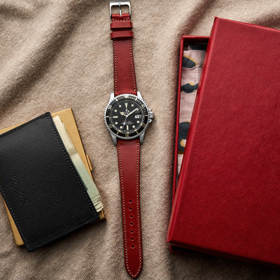 The Barrett Watch Strap In Red alternate image.