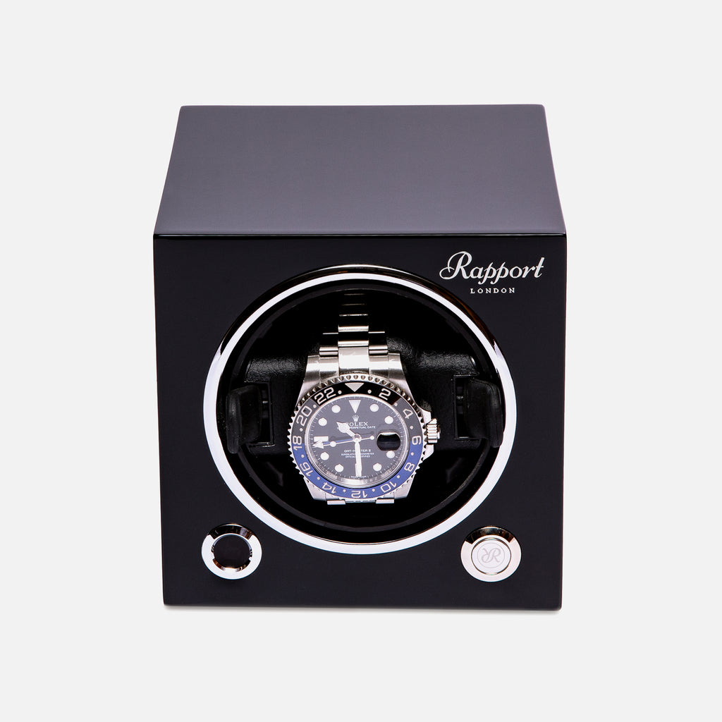 Evo Watch Winder In Midnight Black