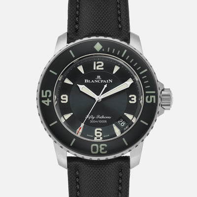 Blancpain Fifty Fathoms Automatique 45mm Black Dial In Titanium