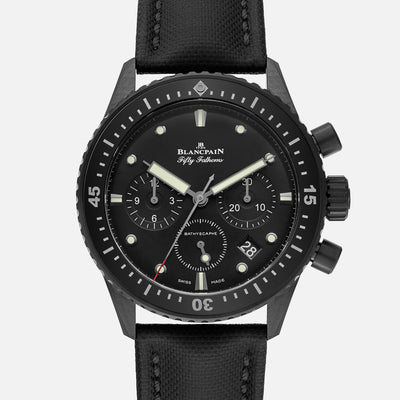 Blancpain Fifty Fathoms Bathyscaphe Flyback Chronograph 43mm In Black Ceramic