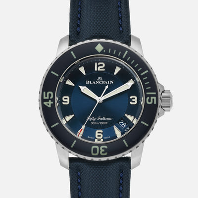 Blancpain Fifty Fathoms Automatique 45mm Blue Dial In Titanium