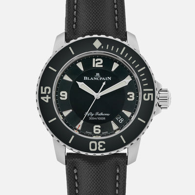 Blancpain Fifty Fathoms Automatique 45mm Black Dial In Steel