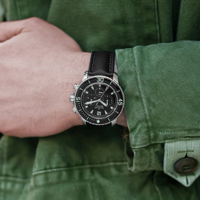 Blancpain Fifty Fathoms Flyback Chronograph 45mm Black Dial In Steel alternate image.