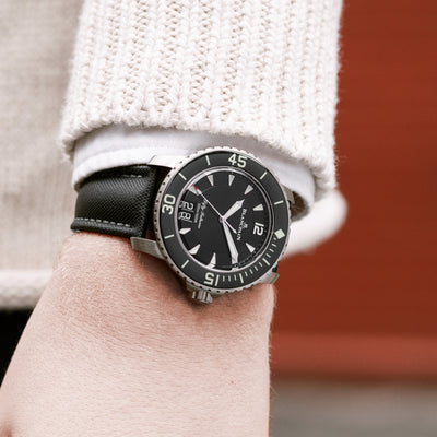 Blancpain Fifty Fathoms Grande Date 45mm Black Dial In Titanium alternate image.