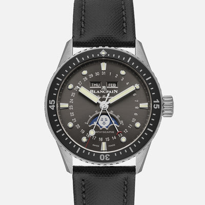 Blancpain Fifty Fathoms Bathyscaphe Complete Calendar Moon Phase 43mm