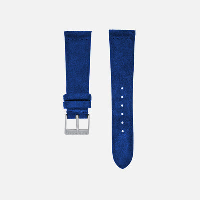 Cobalt Blue Suede Watch Strap