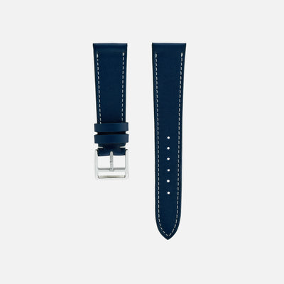 Smooth Prussian Blue Calfskin Watch Strap