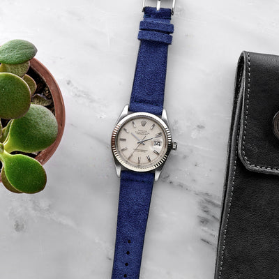 Cobalt Blue Suede Watch Strap alternate image.