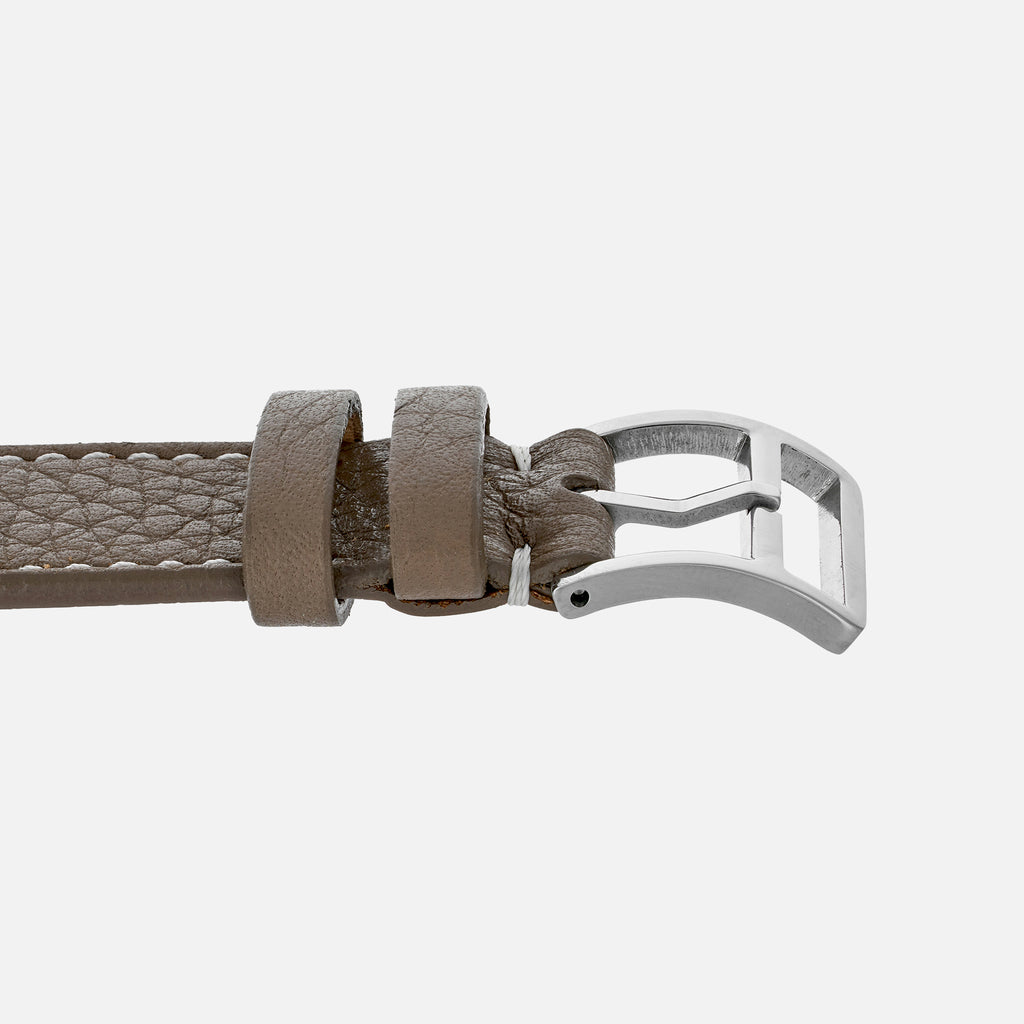 Marbled Taupe Calfskin Watch Strap