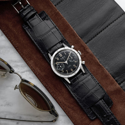 The Newman Bund Watch Strap In Black Crocodile alternate image.