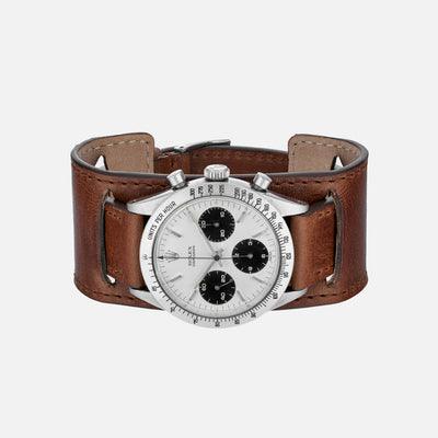 The Newman Bund Watch Strap In Brown